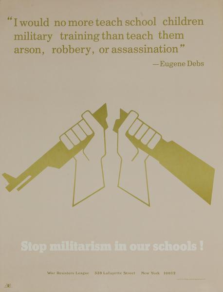 Stop Militarism in our Schools