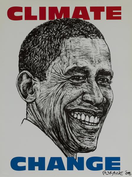 Climate Change, Barack Obama Political Poster