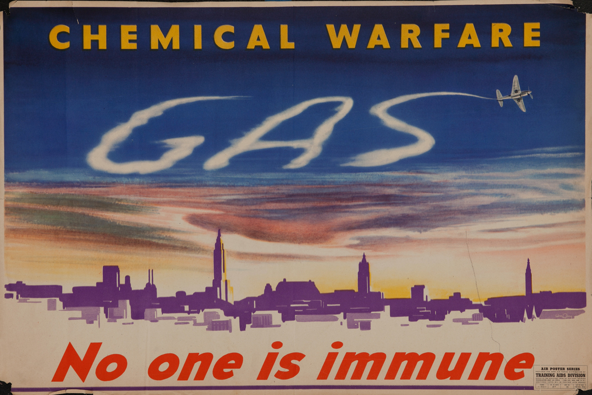 Chemical Warfare WWII Poster, Gas No One is Immune