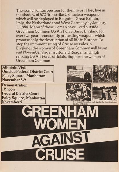 Greenham Women Against Cruise, anti-Cruise Missile Poster, B&W