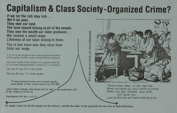 Capitalism & Class Society-Organized Crime? Wealth Protest Poster