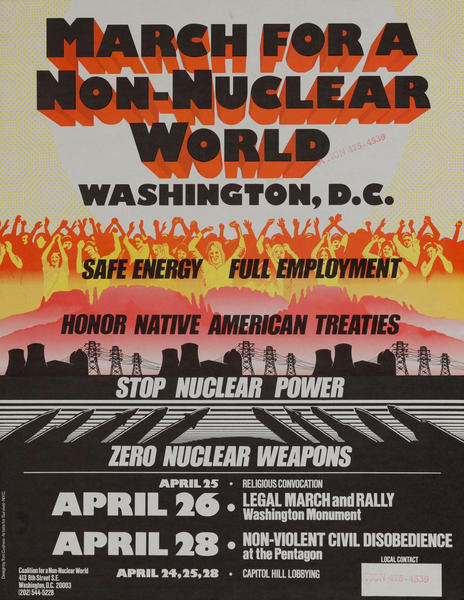 March for a Non-Nuclear World Stop Nuclear Power - Zero Nuclear Weapons