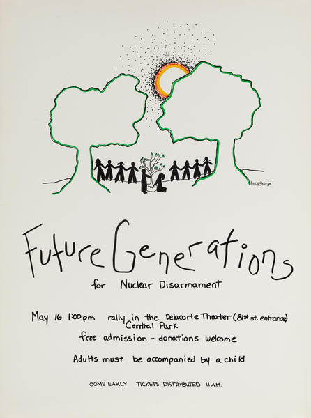 Future Generations for Nuclear Disarmament, Protest Poster