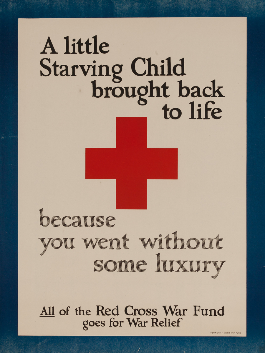 A little Starving Child brought back to life because you went without some luxury Red Cross