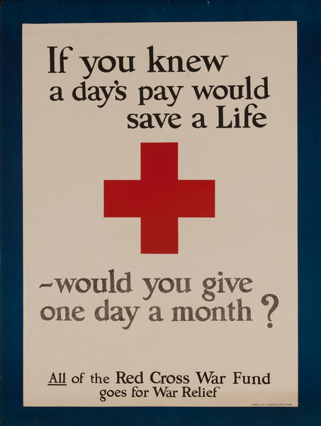 If you knew a day's pay would save a Life - would you give one day a month? Red Cross
