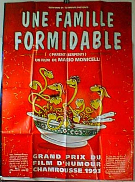 Famille Formidable Original French Movie Poster