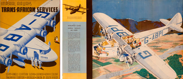 Imperial Airways Trans African Services Brochure Poster
