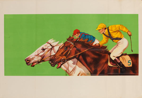 Beautiful French Horse Race Print