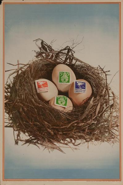 WWII United Kingdom National Saving Plan Poster, Nest Egg