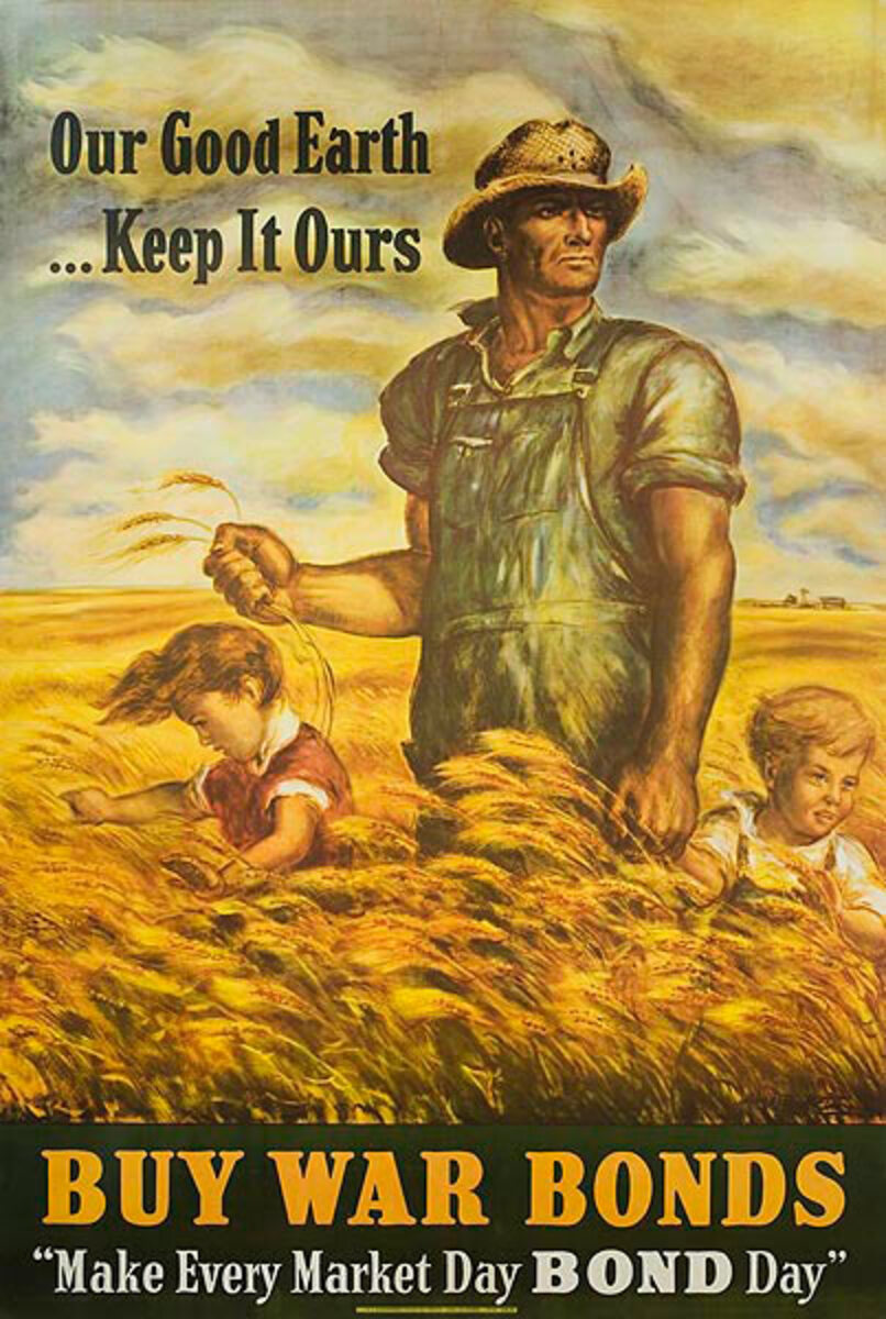 Our Good Earth, Keep It Ours American, Original World War Two Bond Poster