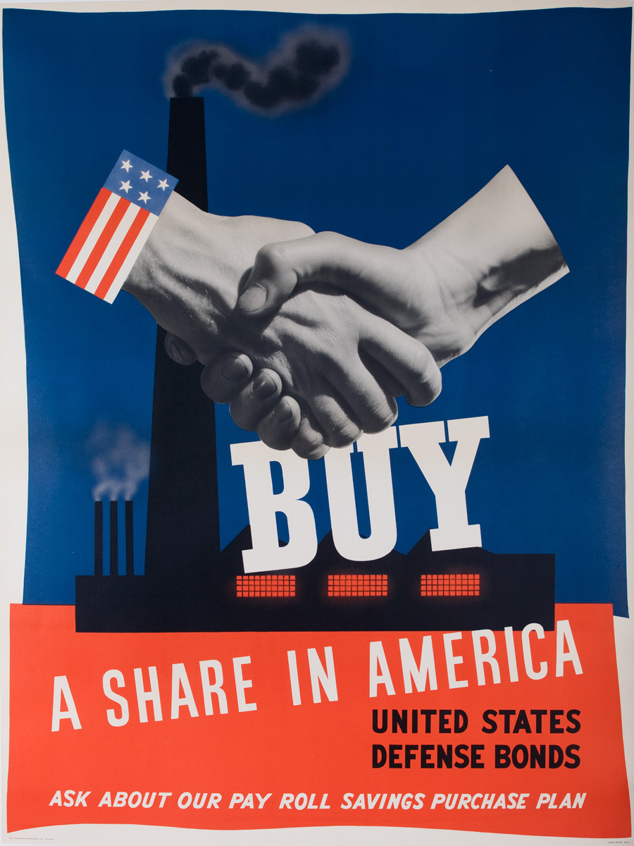 Buy a Share in America WWII Bond Poster, extra large size