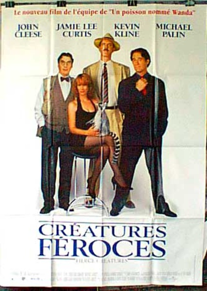 Fierce Creatures Original French Movie Poster