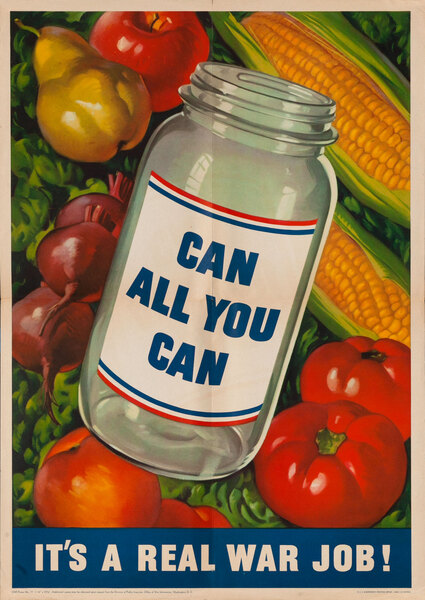 Can All You Can Original American WWII Poster, larrge size