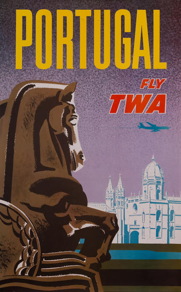 Portugal, Trans World Airlines TWA Travel Poster, jet