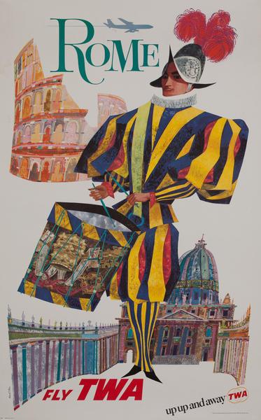 Rome Fly TWA, Vatican Guard, Colosseum