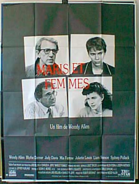 Husbands and Wives Original French Movie Poster