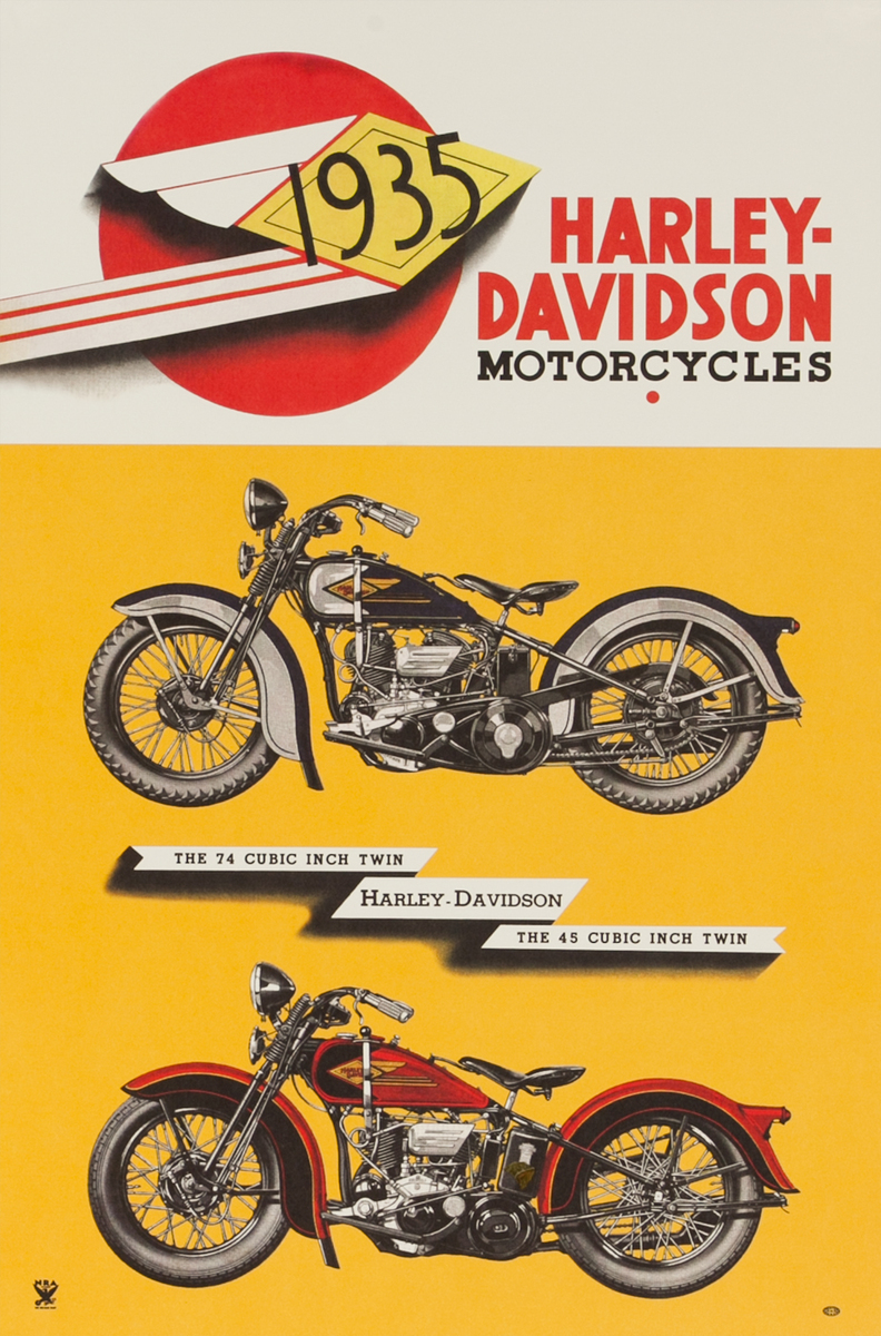 1935 Harley Davidson Motorcycles, the 74 Cubic Inch Twin, The 45 Cubic Inch Twin