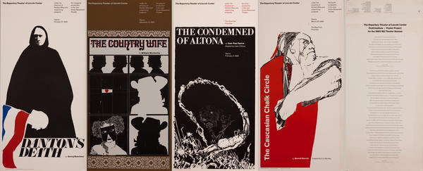 The Repertory Theater of Lincoln Center - Inaugural Season - Portflio of Posters
