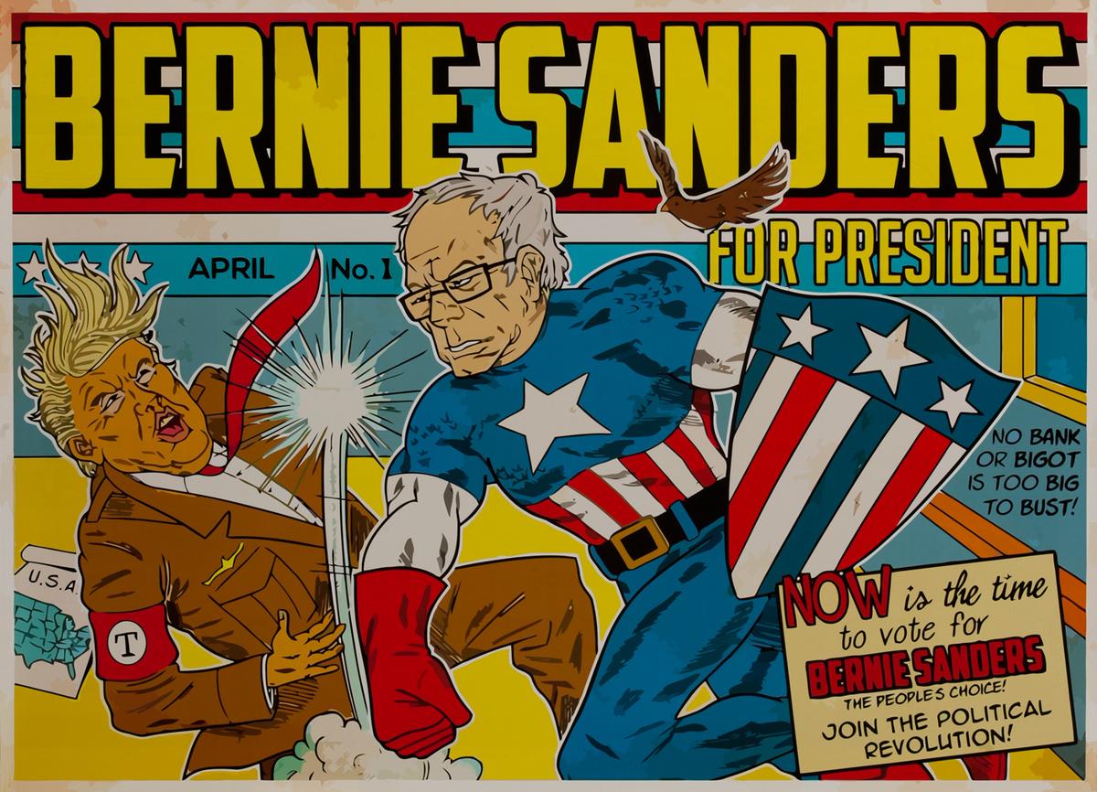 Bernie Sanders for President - 2016 Democratic Primary Presidential Campaign Poster