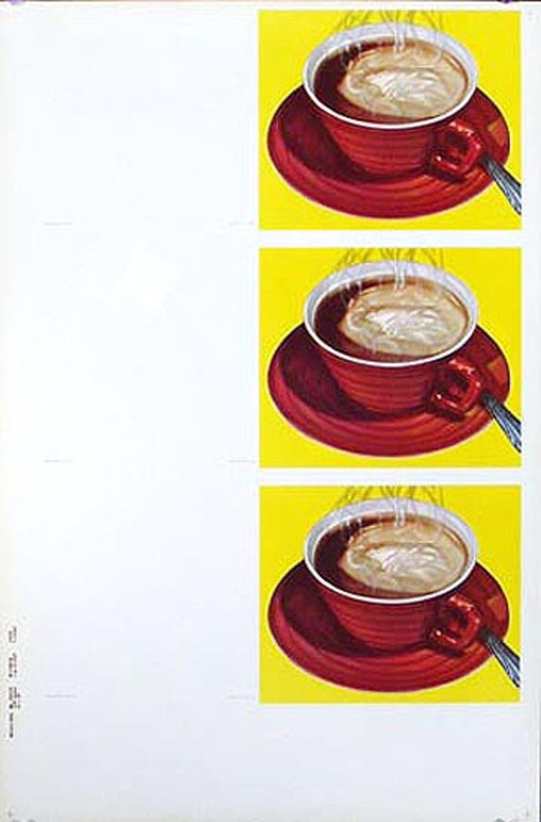 Diner Coffee Cups Original American Advertising Poster