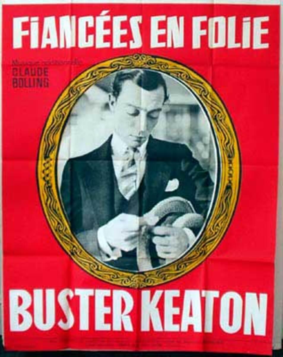Buster Keaton Fiancees En Folie French release Vintage Movie Poster