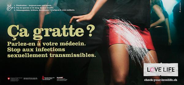 Ca Gratte? Swiss AIDs HIV Public Health Poster