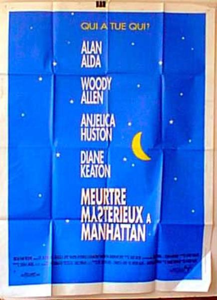 Manhattan Murder Mystery Original French Movie Poster