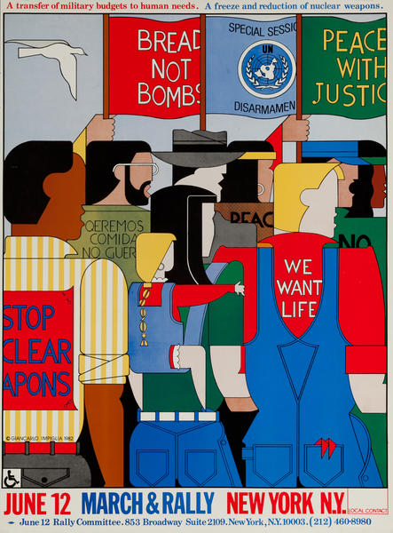 Stop Nuclear Weapons March and Rally, Disarmament Protest Poster