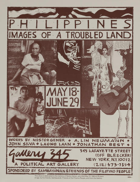 Philippines Images of a Troubled Land. Gallery 345 Protest Poster