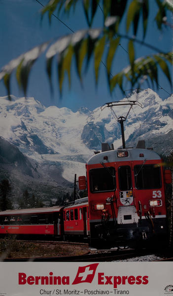 Bernina Express Chur/ST Moritz -Poschiavo - Tirano  Swiss Travel Poster