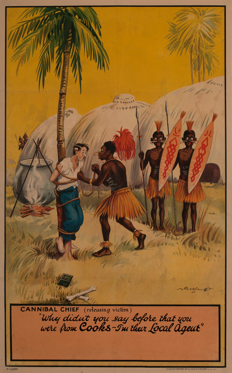Cook Travel Agency Poster, Cannibals with Tourist