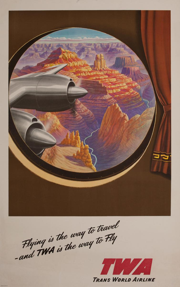 TWA Trans World Airline Grand Canyon