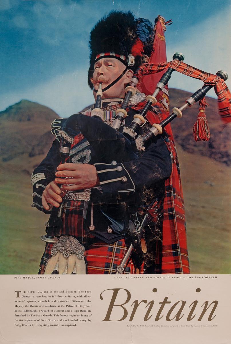 Britain - Pipe Major, Scots Guard