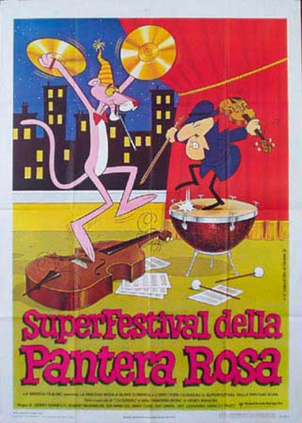 Pink Panther Film Festival Original Vintage Movie Poster Italian Release