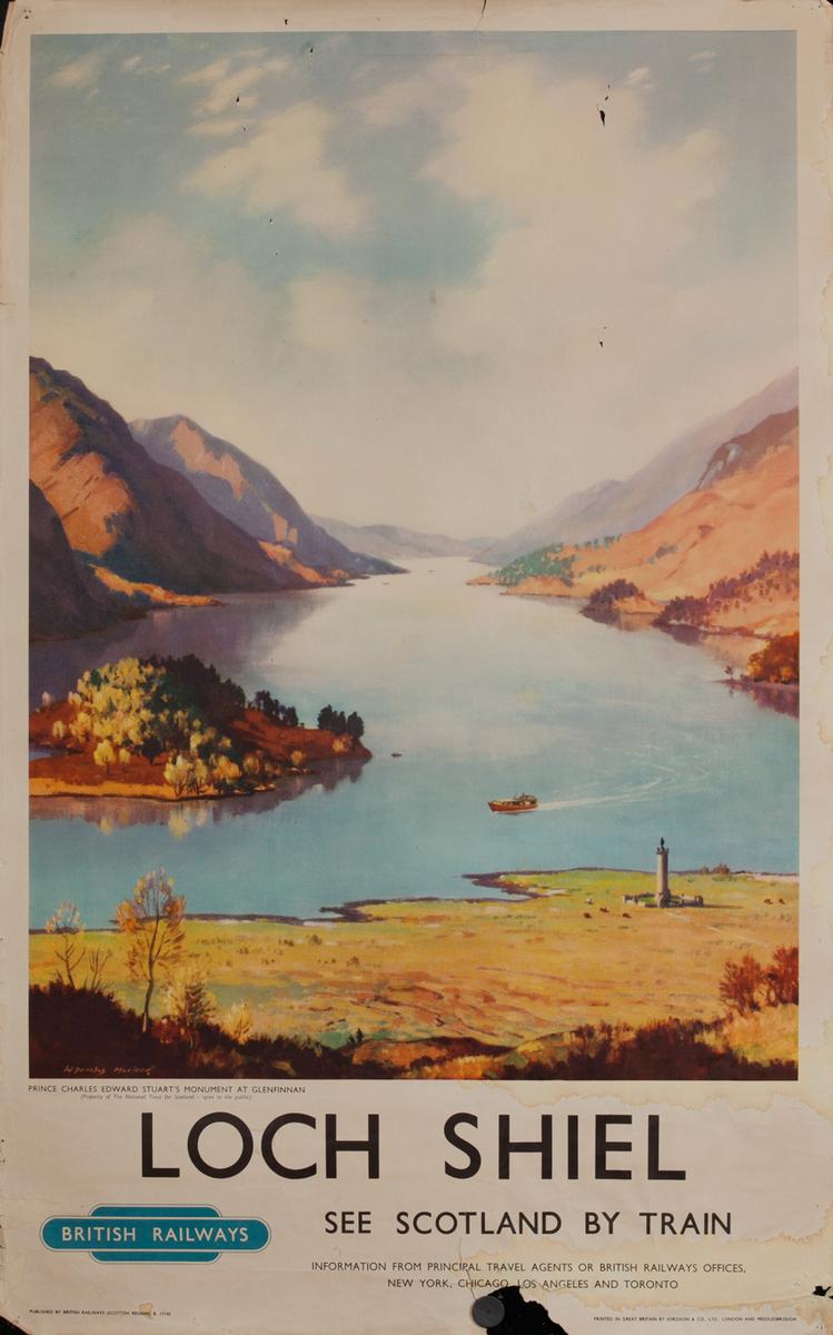 Loch Shiel, See Scotland By Train, British Railways Poster