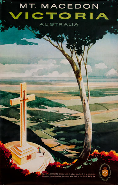 Mt. Macedon Victoria, Australian Travel Poster