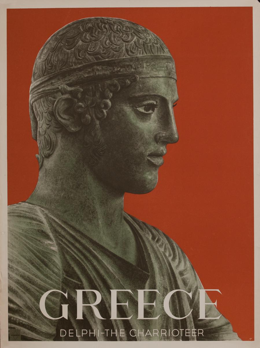 Delphi the Charriteer Greek Travel Poster