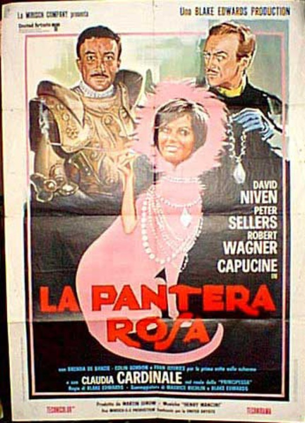 Pink Panther Italian Release Vintage Movie Poster