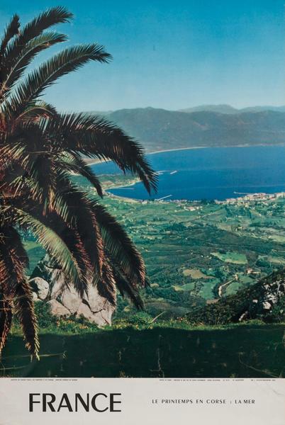 France, Le Prentemps En Corse Travel Poster