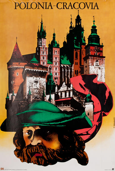 Crackow Poland Travel Poster <br>Polonia-Cracovia