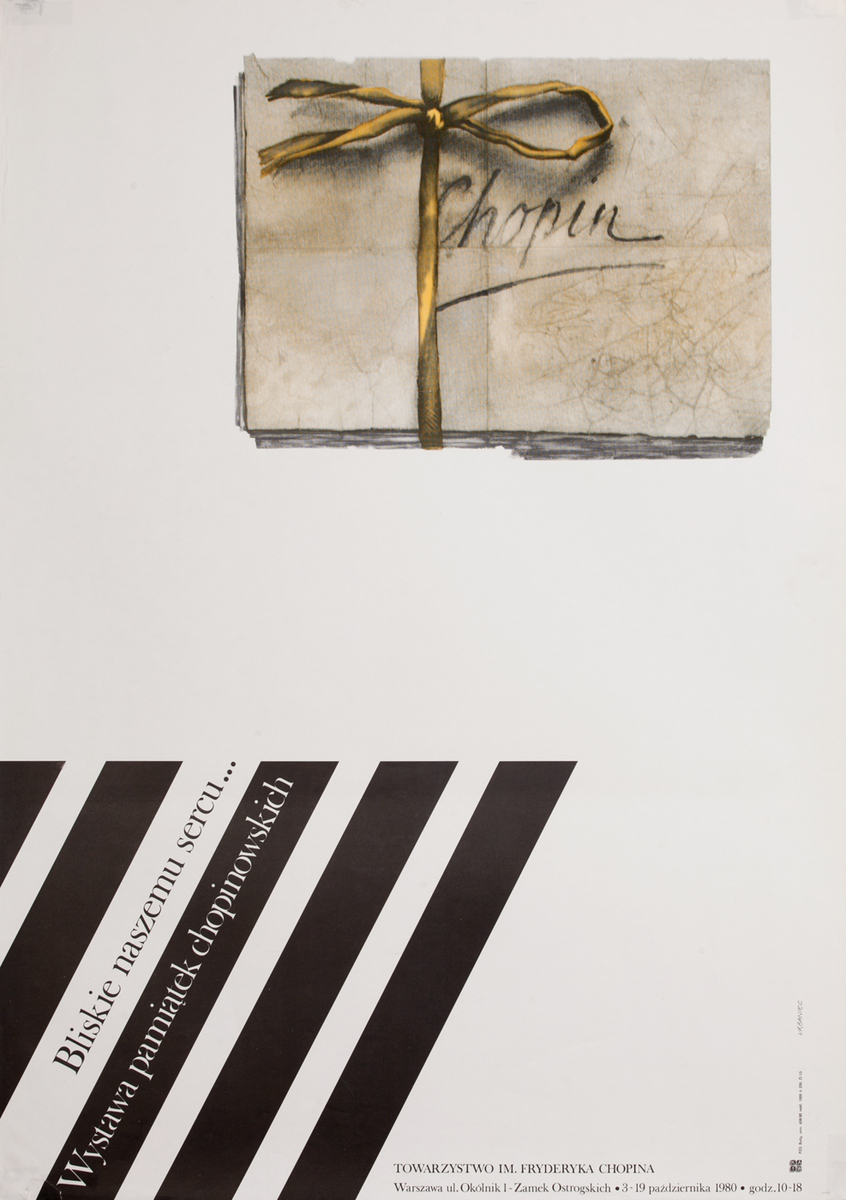 Close to our Heart - Exhibition of Chopin Memorabilia, Polish Poster