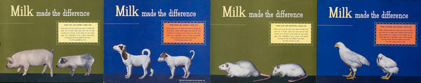 Milk made the difference - Dairy Council Health Poster