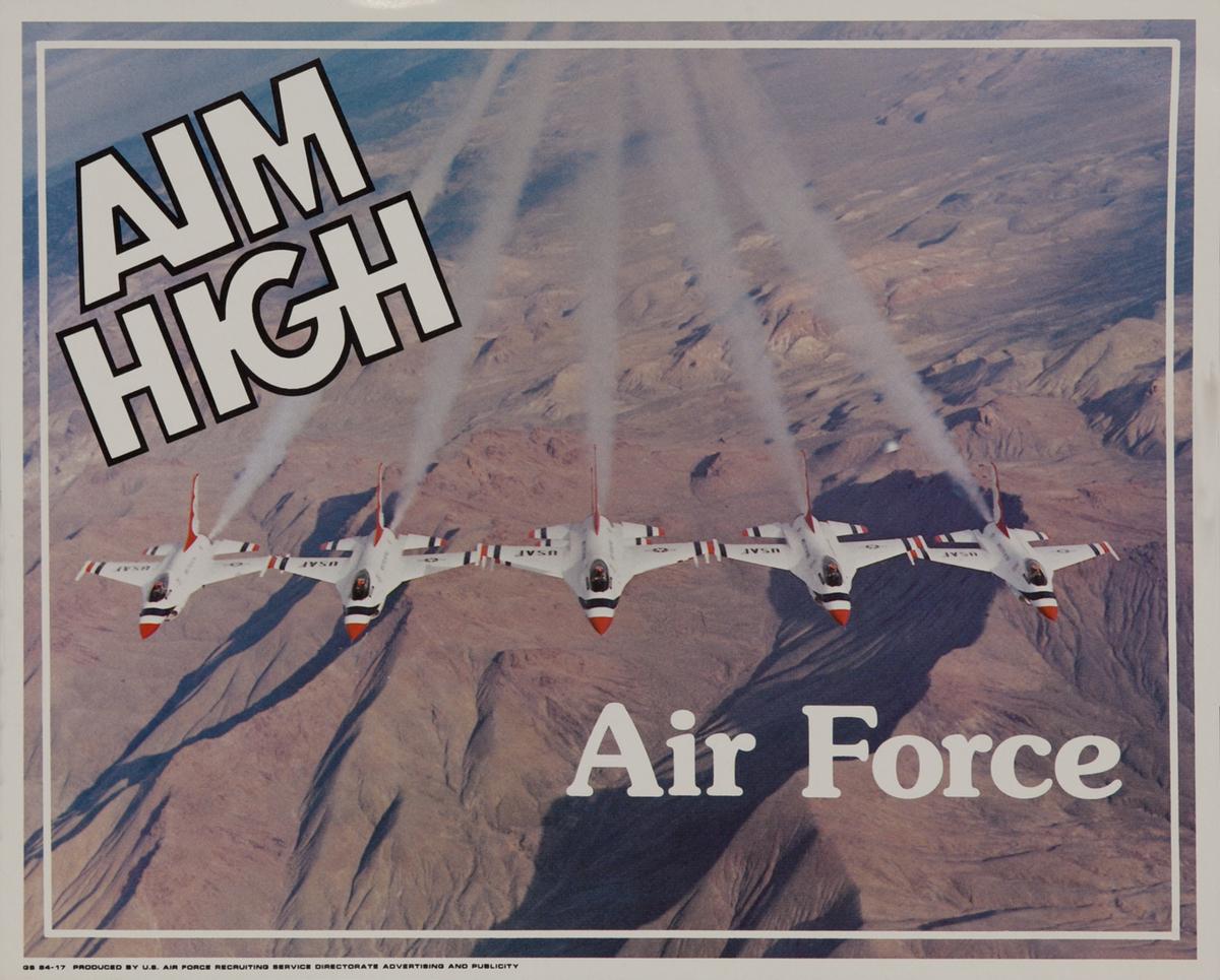 Aim High Air  Recruiting Poster