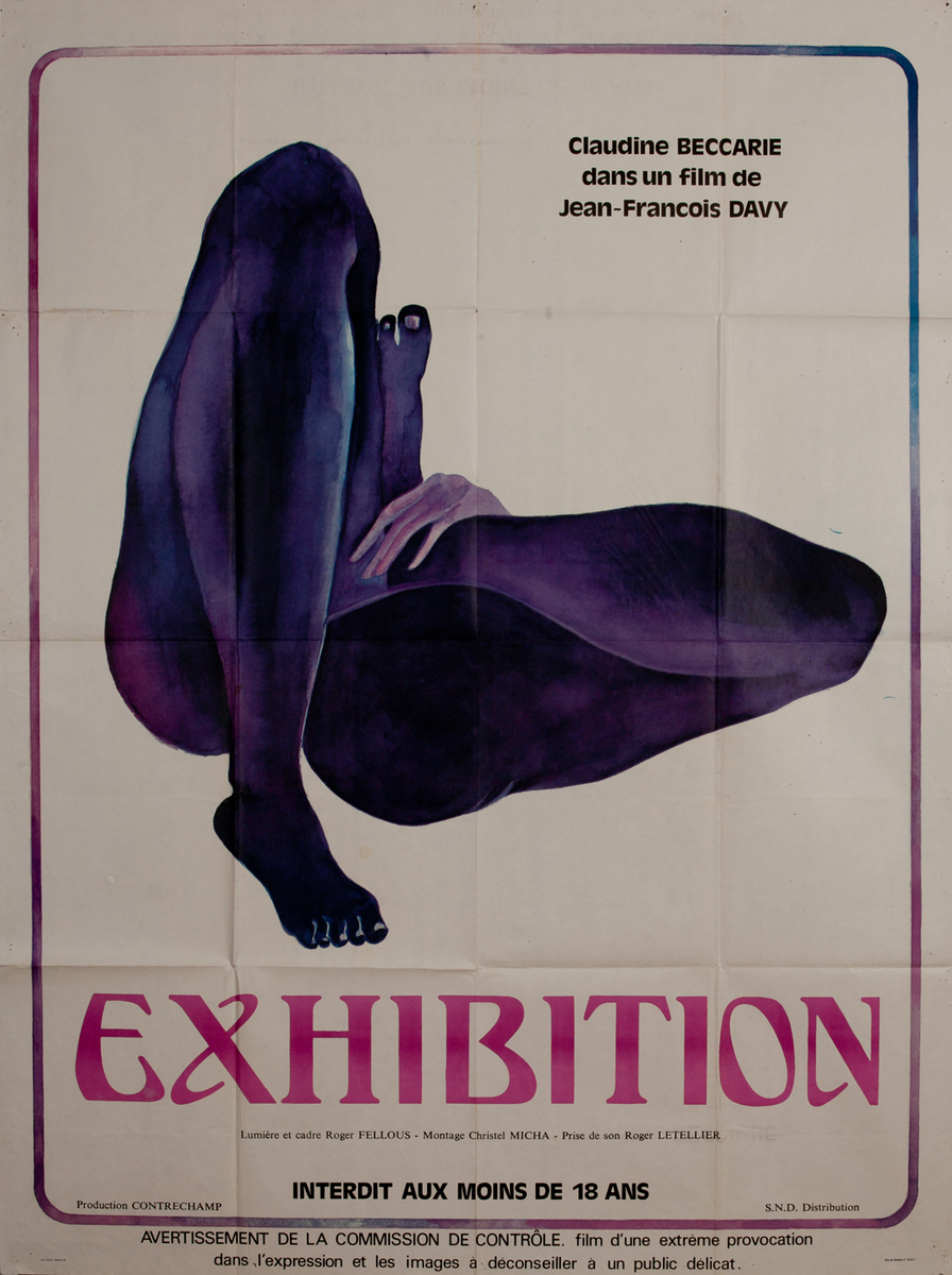 Exhibition, French X-Rated Movie Poster