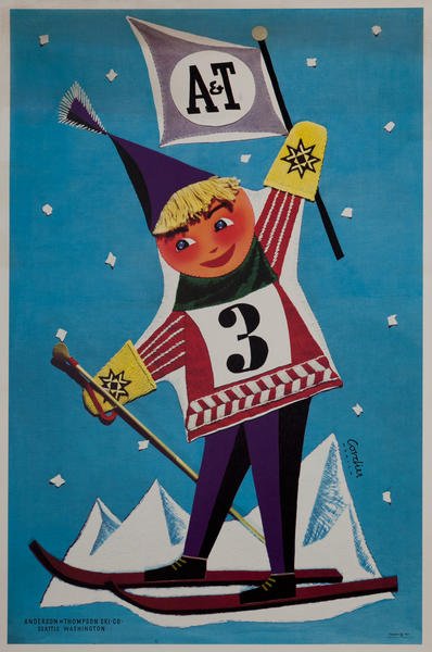 Anderson and Thompson Ski Co. Seattle Washington Advertising Poster