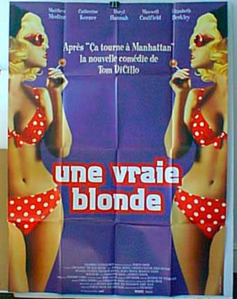 Real Blonde Original French Movie Poster
