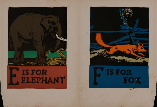 E is for Elephant - F is for Fox