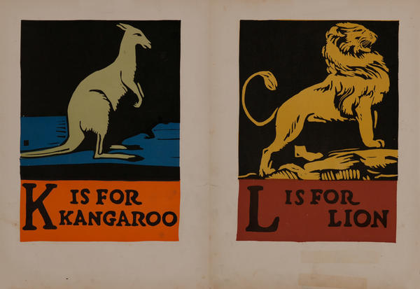 K is for Kangaroo - L is for Lion