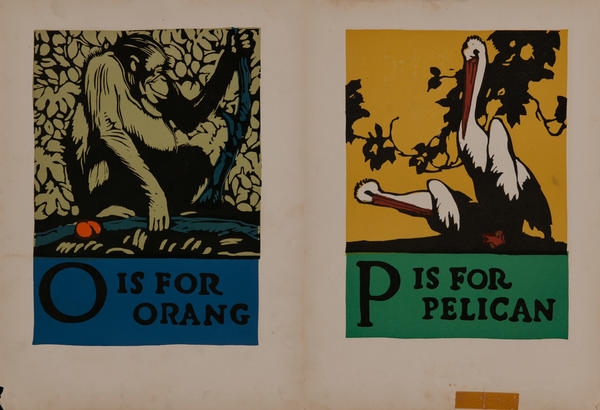 O is for Orang - P is for Pelican
