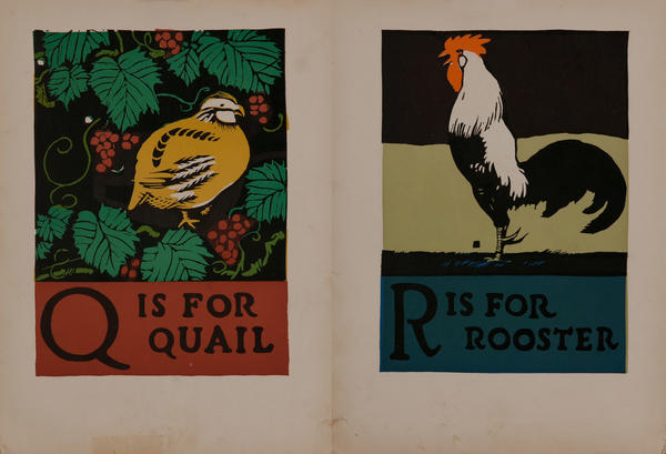 Q is for Quail - R is for Rooster